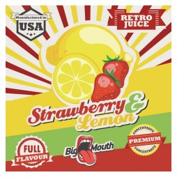 Saveur Strawberry Lemon Retro Juice Concentré Big Mouth 10ml