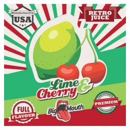 Saveur Lime & Cherry Retro Juice Concentré Big Mouth 10ml
