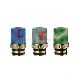 Drip tip Résine copper plating gold - Fumytech