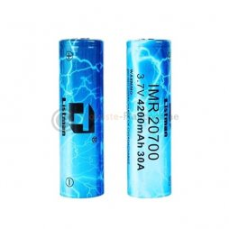 2 Batteries 20700 4200mAh 30A - Listman