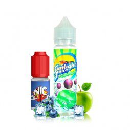 Apple Berry 0mg 50 ml + Booster 10ml - Sunlight Juice
