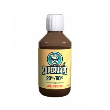 20PG / 80VG nicotineless base 120ml - SuperVape