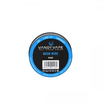 Ni80 Mesh wire 100mesh 5ft (1.8Ω/ft)- Vandy Vape