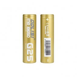 G25 18650 2500MAH 20A battery 2pcs- Golisi