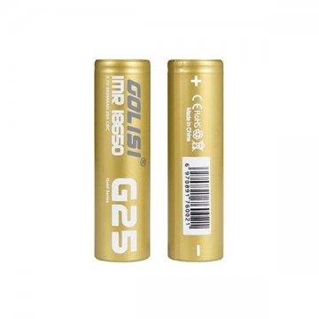 Batteries G25 18650 2500mAh 20A (2pcs) - Golisi