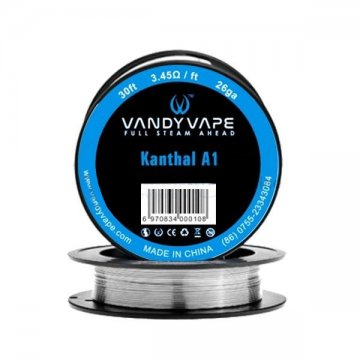 Kanthal A1 26ga 30ft (3.45Ω/ft) - Vandy Vape