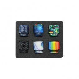 Drip tip 810 Résine 7-colors 6pcs/Pack
