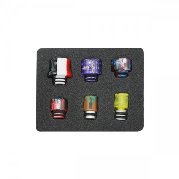 Drip tip 510 Résine 7-colors 6pcs/Pack