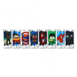Wraps pour accus 18650 (5pcs) - Super Heroes Series