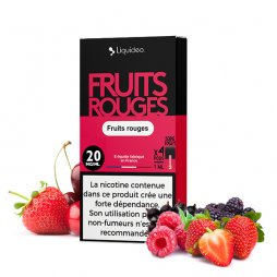 Cartouches Sel de Nicotine Fruits Rouges 1ml (4pcs) - Liquideo
