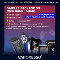 Tobacco Free Month Pack - Vaporesso