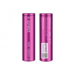 Efest Battery 18500 3000mah rechargeable 3.7V 35A purple flat top
