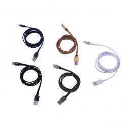 FLAT CABLE (IPHONE) 1M NYLON BRAID - TEKMEE