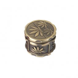 Grinder 60mm 4 parts weed leaf Lea engraving Zinc