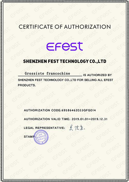 certificat efest